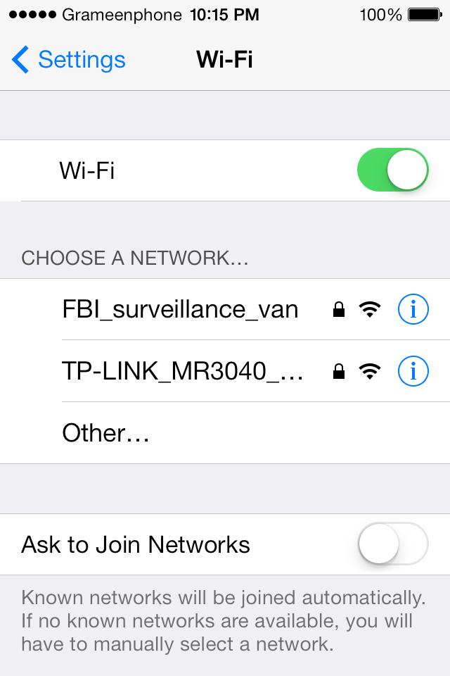 discouraging wifi name